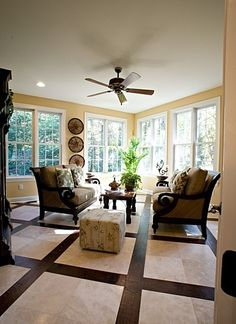 Tropical Living Room Design, Pictures, Remodel, Decor and Ideas - interesting floor