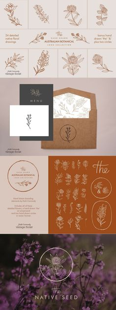 All you need to create a modern hand drawn floral logo! Inspiration Art, Graphic Design Inspiration, Tag Art, Illustration Simple, Branding Design, Logo Design, Graffiti, Web Design, Flower Logo