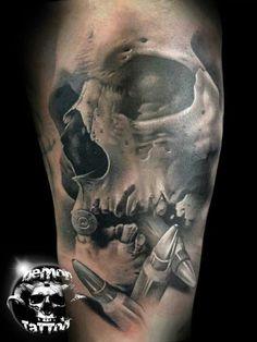Skull Apple Arm Tattoo Design photo - 1 Ammo