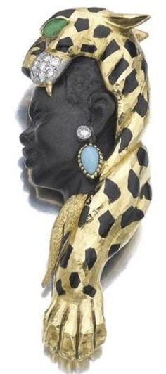 Cartier blackamoor brooch.
