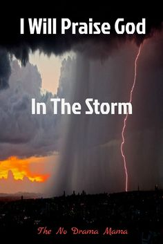 """Faith means saying I will praise God in the storm. Jesus doesnt disappear in the trials of life. Hes placing blessing after blessing in front of us like breadcrumbs, saying, All you have to do is follow."""""""