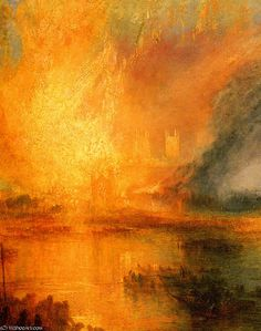 Joseph Mallord William Turner The Burning of the Houses of Parliament detail art painting for sale; Shop your favorite Joseph Mallord William Turner The Burning of the Houses of Parliament detail painting on canvas or frame at discount price. Claude Monet, Monet Paintings, Landscape Paintings, Art Romantique, Turner Painting, Joseph Mallord William Turner, Impressionist Paintings, Amazing Art, Fine Art