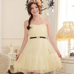 Buy 'JK2 – Strapless Lace-Hem Shirred Cocktail Dress' with Free International Shipping at YesStyle.com. Browse and shop for thousands of Asian fashion items from China and more!