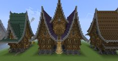 Medieval Fantasy Houses Minecraft Project in 2020 Minecraft projects Minecraft medieval Minecraft statues