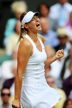 Maria Sharapova, win or lose, always shows how passionate she is about her game.