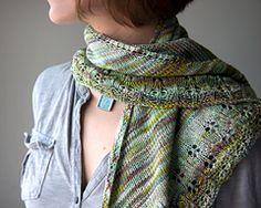 Ravelry: Oaklet Shawl pattern by Megan Goodacre, yarn is Sweatermaker Yarns Marjorie in colorway Tidepool.