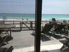 Leeward II Vacation Rental - VRBO 325378 - 1 BR Seagrove Beach Condo in FL, Available Apr 2-6, Beach Front~Huge Deck! 1st Floor, King Tempurpedic