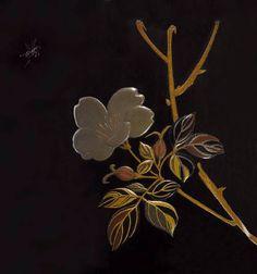 花鳥図蒔絵印籠 銘「是真」 明治時代