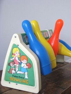 70's fisher-price bowling toy
