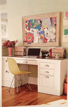 Eclectic desk space
