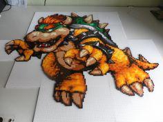 strijkkralen bowser | Displaying 17> Images For - Super Mario World Bowser Sprite...