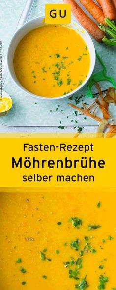 """Fasten-Rezept für selbst gemachte Möhrenbrühe aus dem Buch """"Wie neugeboren durch Fasten""""."""