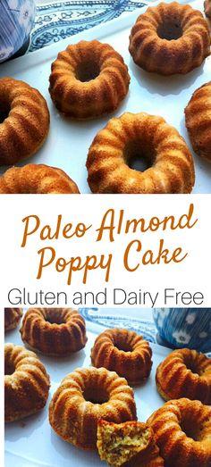 Paleo Almond Poppy Cake #glutenfreerecipes #dairyfree #healthyrecipes #paleorecipes #healthymama #cleaneating #nutrition