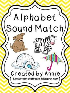 I created this packet as a fun and independent way for students to practice beginning sounds. It would be perfect for a literacy station! An Xx picture card is not included with this freebie. ... Teaching Letter Sounds, Alphabet Sounds, Teaching Letters, Teaching Phonics, Alphabet For Kids, Teaching Resources, Beginning Of Kindergarten, Beginning Reading, Beginning Sounds