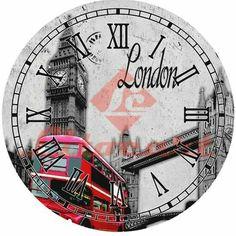 Фотография Paper Napkins For Decoupage, Decoupage Vintage, Decoupage Art, Clock Face Printable, London Clock, Farmhouse Wall Clocks, Clock Art, Skateboard Design, Wood Clocks