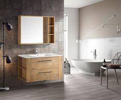Lind nature 80 baderomsmøbel m/enkel servant - Baderomsmøbler - Baderom - MegaFlis.no Bathroom Inspo, Bathroom Interior, Industrial Design, Ikea, Bathtub, Simple, Home Decor, Food, Modern