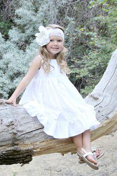 White or Ivory Easter Dress or Flower Girl Dress  by plainjanesstore, $26.50 www.plainjanesstore.com