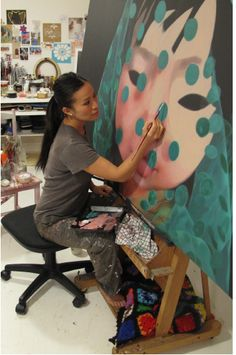 Poh spoke to us about her amazing paintings. http://www.pohlingyeow.com/recent/recent-14.htm