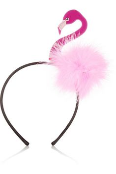 I was thinking, birds, feathers for the wedding fasinator but maybe this  Flamingo Headband is going too far LOL