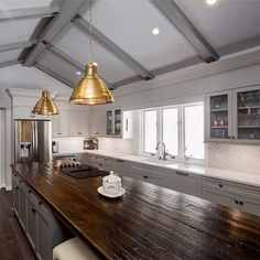 Love these wood counters.