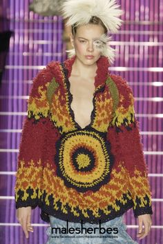 "maison-malesherbes:  "" [ Fashion ] John Galliano 2002 Fall  Please follow us on our FACKBOOK page, if you interested and also to know more about us and crochet, knitting, arts, fashion, movies and more…  https://www.facebook.com/maisonmalesherbes/  """