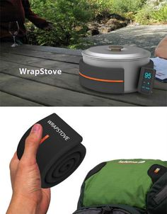 Wrap Stove. A wrap heater that attaches to your pans with magnets. I must find out more....