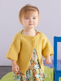 Side to Side Baby Cardigan Pattern (Knit)