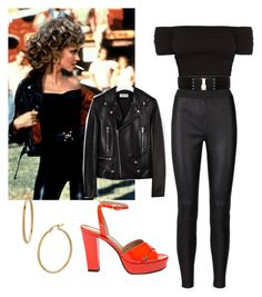 """""""Grease"""" by ddavis-926 ❤ liked on Polyvore featuring Yves Saint Laurent, Sonia Rykiel, Betsey Johnson and Bony Levy"""