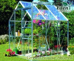Eden Countess Silver 5x6 Greenhouse with Horticultural Glazing and built in aluminium base plinth.  http://www.greenhousestores.co.uk/Eden-Countess-5x6-Greenhouse/