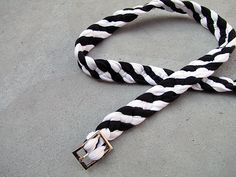 A belt made out of braided T shirt yarn
