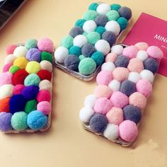 Colorful-Girls-Cute-3D-Plush-Balls-Soft-Phone-Case-Skin-for-iPhone-6-6s-Plus