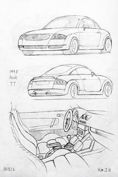 145 best cars images car design sketch car drawings drawings of cars 1942 Buick Century car drawing 151212 1998 audi tt prisma on paper kim j h