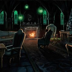 The Slytherin Common Room with Draco from the Chamber of Secrets