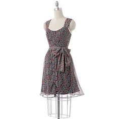 LC Lauren Conrad Fan Chiffon Shirtdress @ Kohl's $64