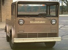 The 1963 Studebaker Westinghouse pickup truck concept was Studebaker's desperate last hope. Learn about the 1963 Studebaker Westinghouse pickup truck. Old Trucks, Pickup Trucks, Chevy Trucks, Classic Trucks, Classic Cars, Automobile, Offroader, Engin, Ex Machina