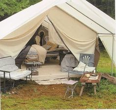 Now this is how to do camping up right. Why should camping be ugly? Nature sure isn't, and you know, when in Rome...