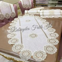 ElWood covering ü Lace . Crochet Lace Edging, Knit Crochet, Crochet Patterns, Decorative Towels, Table Covers, Textiles, Doilies, Christmas Fun, Photo And Video