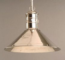 Deck Nickel Plated Solid Brass 1 Light Pendant