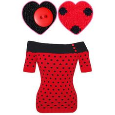 red and black things | Dollydagger red and black polka dot top