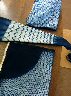 佐久平は? - 村井泰子の藍染絞り工房「端緒庵」の藍染教室 Tie Dye Crafts, Shibori Techniques, Shibori Tie Dye, World Crafts, Textiles, Batik Prints, How To Dye Fabric, Diy Art, Weaving