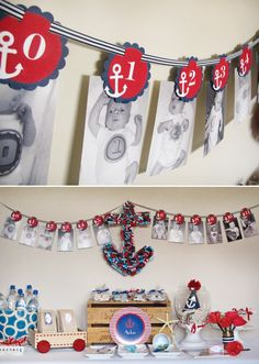 Party Printables   Party Ideas   Party Planning   Party Crafts   Party Recipes   BLOG Bird's Party: Cool Customers: Red, White and Blue Nautical 1st Birthday Party