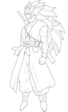 Goku Xeno Super Saiyan 3 Lineart by ChronoFz on DeviantArt Anime Drawings Sketches, Anime Sketch, Easy Drawings, Goku Drawing, Ball Drawing, Rosario Vampire Anime, Free Kids Coloring Pages, Hero Poster, Bike Art
