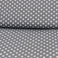 Bumbac – White dots on dark grey - Materiale Textile Bumbac - Materiale textile
