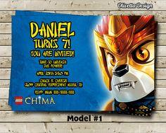 Chima Birthday Party Invitation  Digital File by OlivettaDesign, $8.00
