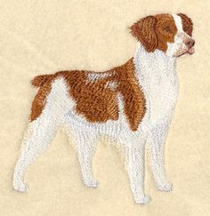 Brittany Spaniel Embroidered Terry Kitchen by forgetmeknottreasure.etsy.com
