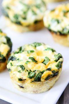 Wedding Food Ideas: Mini Egg Muffin Recipe - http://www.diyweddingsmag.com/recipe/wedding-food-ideas-mini-egg-muffin-recipe/