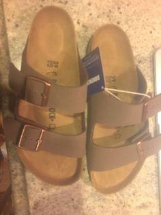 464bbe74c54c Birkenstock Arizona Grey Suede Soft Footbed size 39 womens 8-8.5  fashion   clothing