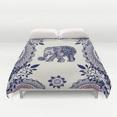 Duvet Cover featuring Elephant Pink by Rskinner1122
