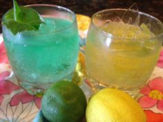 Frozen LIMEADE or LEMONADE GIN FIZZ * adult alcoholic version of a SNOW CONE ** 3 ingredients and very easy to make **