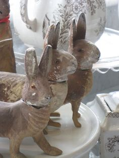 Vintage rabbit candy containers